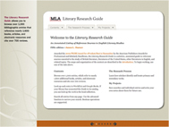 Screenshot of the Literary Research Guide